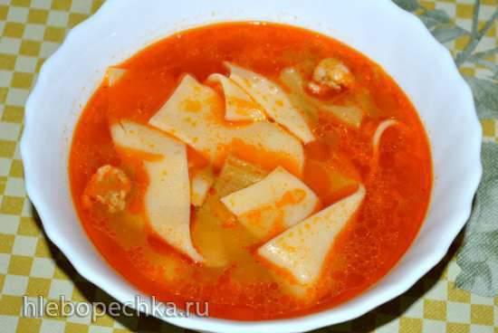 Холодный томатный суп с гречкой