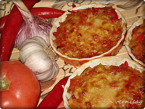 Острые овощи, запеченные с мясом (пиццамейкер Princess 115000)