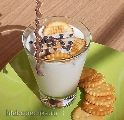 Чизкейк с белым шоколадом и малиновым джемом без выпечки