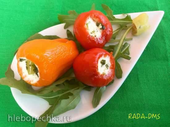 Перец фаршированный морковью