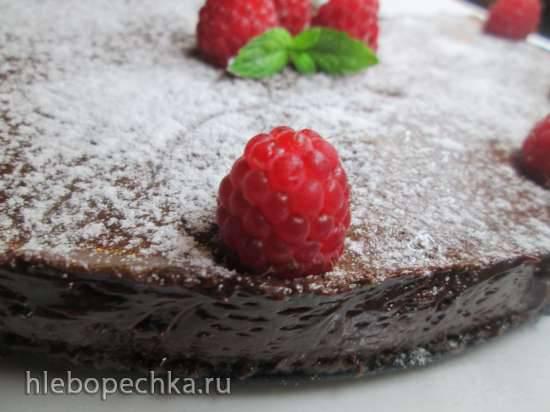 Замороженный шоколадный торт-мусс на меренге