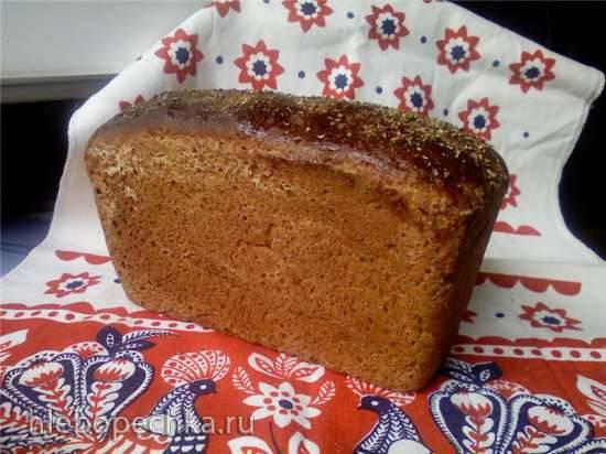Пшенично-ржаной хлеб 50х50 на жидких дрожжах (духовка) Пшенично-ржаной хлеб 50х50 на жидких дрожжах (духовка)