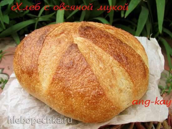 Хлеб на закваске и фруктовых дрожжах с овсяной мукой