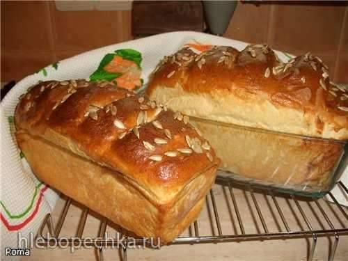 Хлеб пшеничный с картофельными хлопьями (хлебопечка)