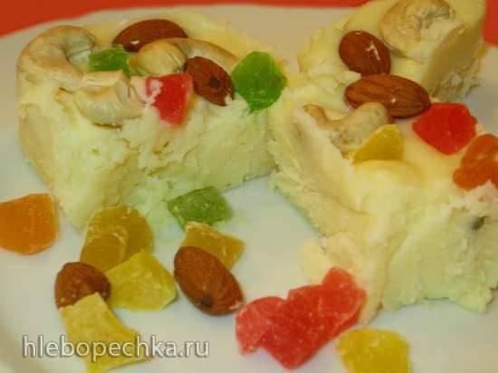 Сметанный десерт Бурфи (или крем, или прослойка для пирога)Сметанный десерт Бурфи (или крем, или прослойка для пирога)