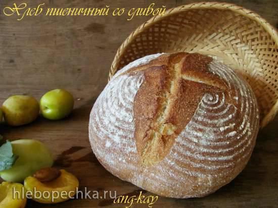 Хлеб пшеничный со сливой