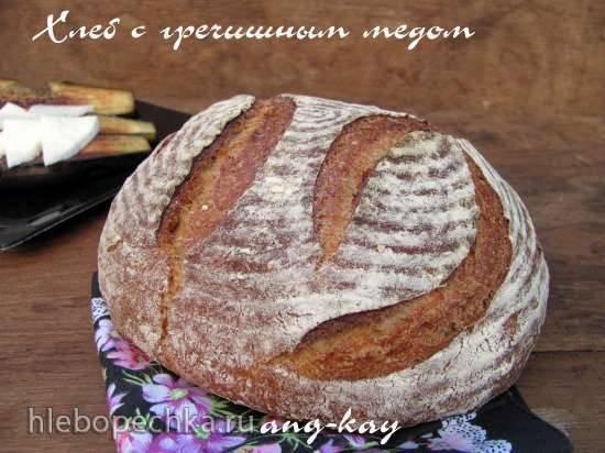 Хлеб на закваске с гречишным медом