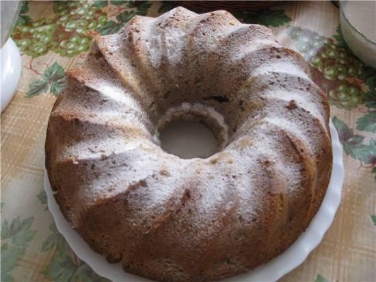 Кекс сливочно-ореховый с халвой