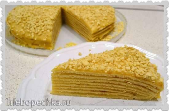 Разрезы тортов Торт блинный «Минутка»