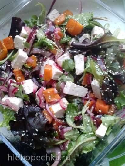 """Салат из тыквы с сыром """"Фетакса""""(по мотивам рецепта Найджелы Лоусон)"""