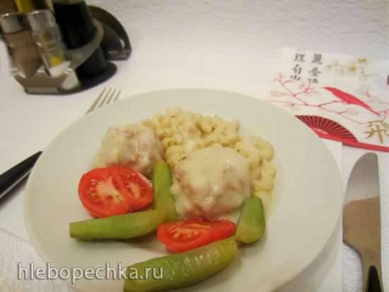Фрикадельки с соусом из рисовой муки (с использованием фрикадельницы)