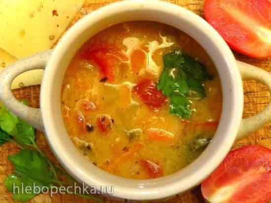 Сырный суп Русская пицца