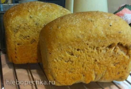Хлеб пшенично-ржаной с овсяными хлопьями длительного холодного брожения
