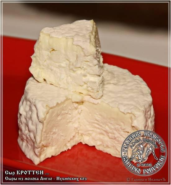 Сыр Кроттен из молока англо-нубийских коз Сыр Кроттен из молока англо-нубийских коз