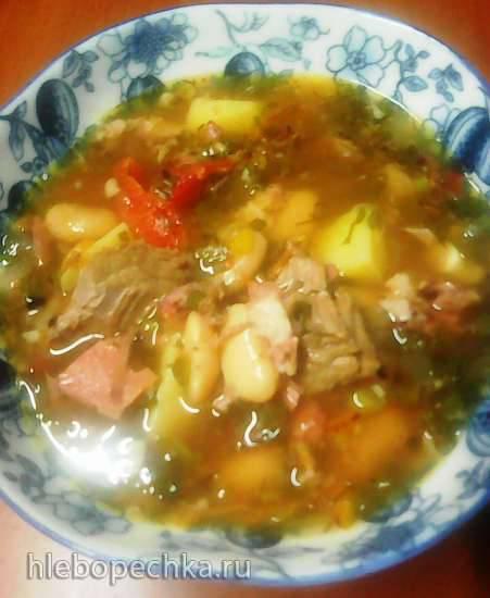 Фасолевый суп с рассолом