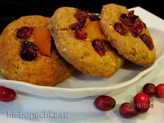 Печенье гречневое с медом и сухофруктами