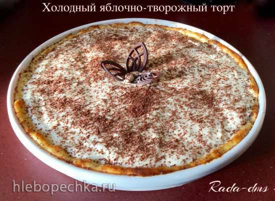 Ржаная бабка с ягодно-сметанной заливкой (из черники, брусники или жимолости) Яблочно-творожный холодный торт со сметанным кремом