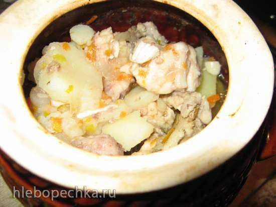 Рагу с курицей в горшочке диетическое
