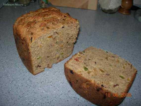 Деревенский хлеб с мюсли на сыворотке (хлебопечка)