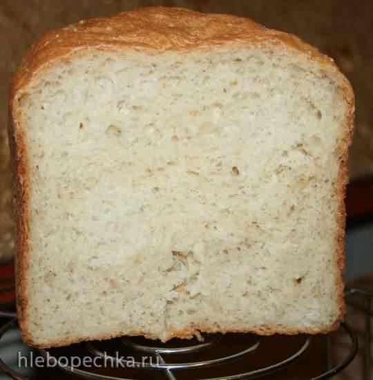 Пшеничный хлеб с пшеничной крупой, хлопьями и манкой