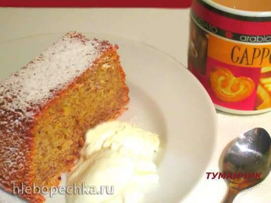 Кекс миндально-лимонный с полентой (кукурузной мукой или крупой)