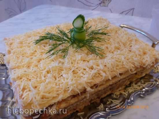 Полезное пирожное Наполеон  к завтраку за 5 минут