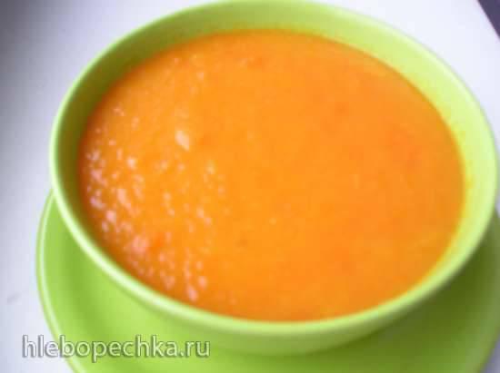 Постный суп с имбирем в медленноварке