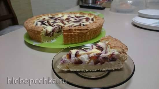 Сливовый пирог с коньяком
