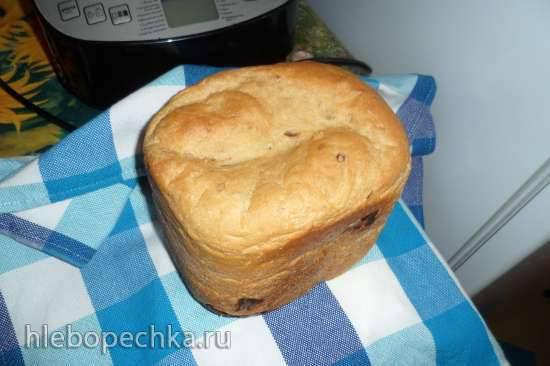"""Philips HD9046. """"Долгий"""" пшеничный хлеб с овсяным толокном и финиками"""