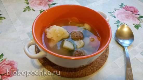 Лёгкий суп с фрикадельками (евро суп)