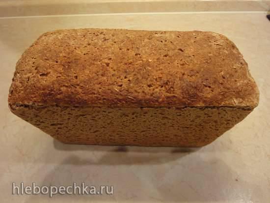 Геркулесовый хлеб на хмелевой закваске из ржаной муки с нуля (в духовке) Геркулесовый хлеб на хмелевой закваске из ржаной муки с нуля (в духовке)