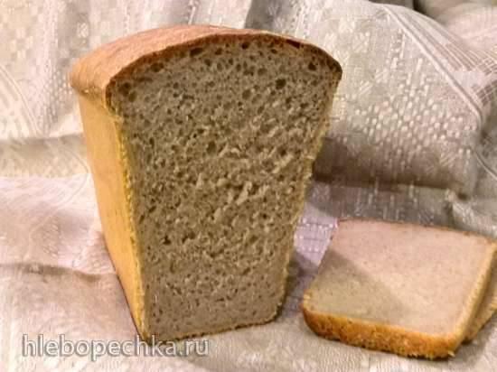 Пшеничный хлеб на солодовой закваске (духовка)