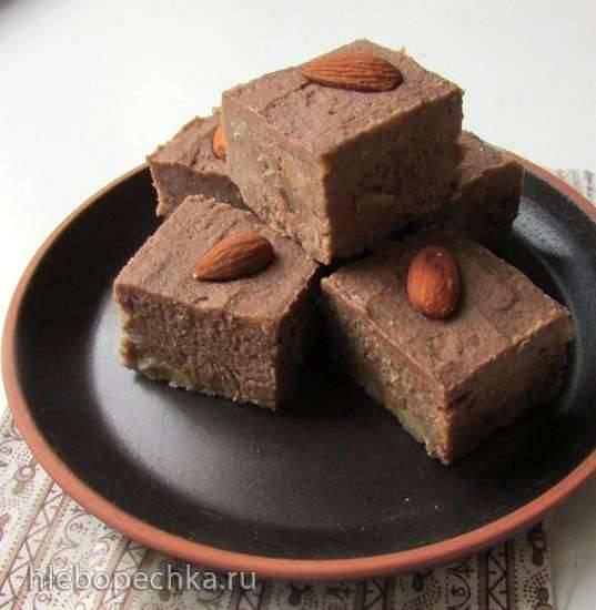 Пряная помадка из нута с какао и имбирем