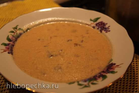 Суп грибной с лохмотками