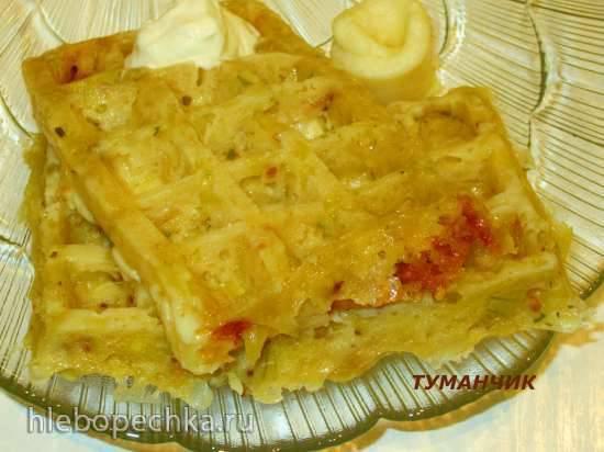 Вафли картофельные очень сырные в микроволновке