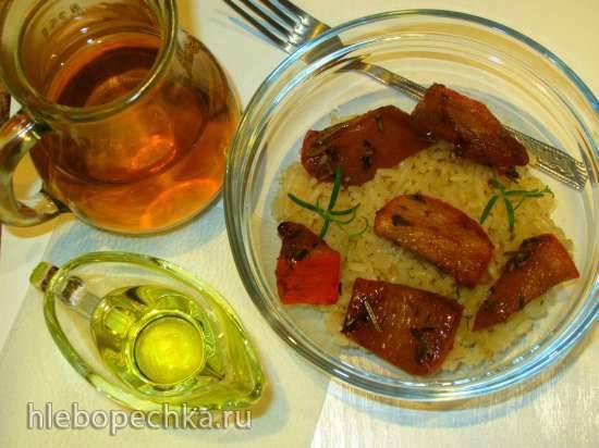 Хурма пряная вяленая с рисом и розмарином (гарнир или основное блюдо)