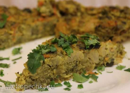 Овощная фриттата с тофу (постная)