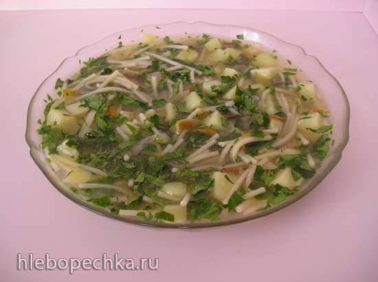 Афонский картофельный суп с вермишелью  в рисоварке 1л