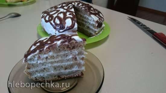 Тортик сочный халвичный с шоколадной ноткой (мультиварка Redmond RMC-01)