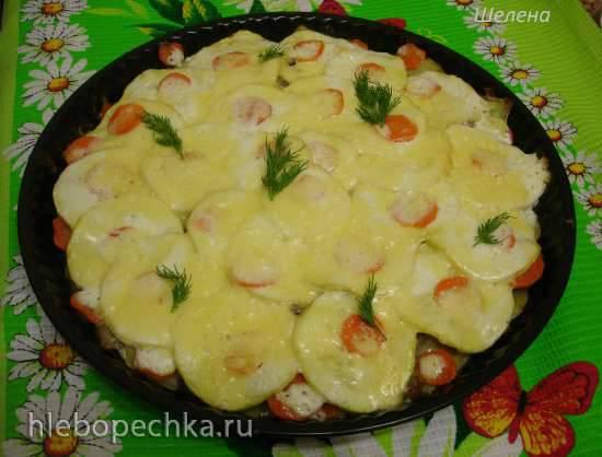 """Кабачково-картофельная запеканка с мясом """"Семейный ужин"""""""