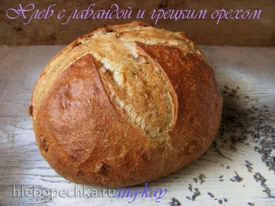 Хлеб с лавандой и грецким орехом