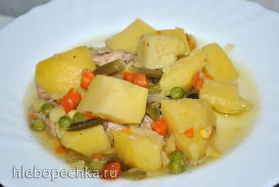 Тушеный картофель с овощами (зимний вариант). Polaris 0305
