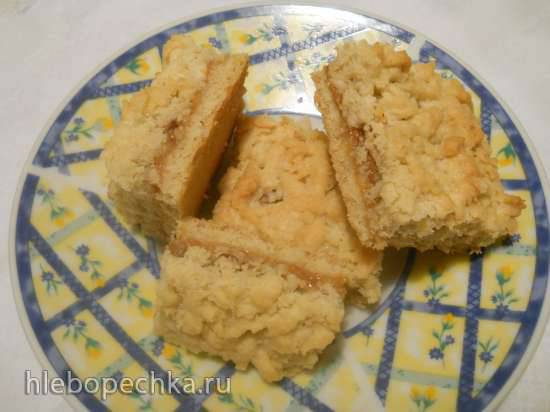 Ореховое печенье в микроволновке