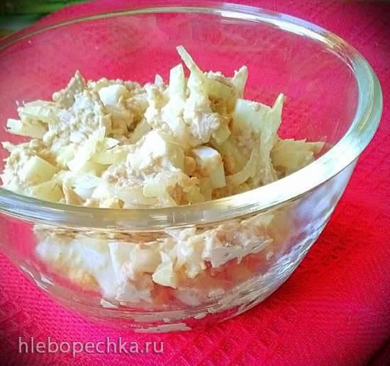 Салат по-мурмански из печени трески