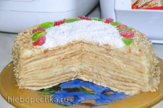Торт А-ля Рыжик на инвертном сиропе, сковородный)))