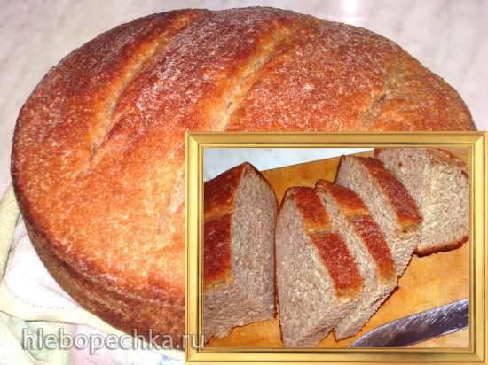 """Хлеб пшеничный, цельнозерновой, с кокосовой стружкой (по мотивам """"Пушистого"""")"""
