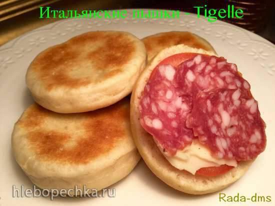 """Ржаные коржики в пиццамейкере Princess 115000 Пышки итальянские """"Тиджелле"""" (TIGELLE) (лепешки, выпеченные на сковороде на тесте со смальцем)"""
