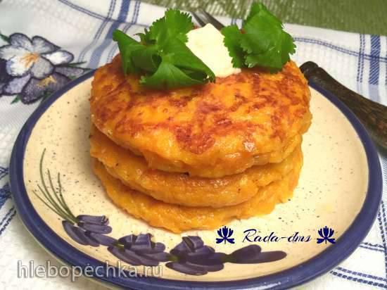 Оладьи (котлетки) тыквенные с сыром