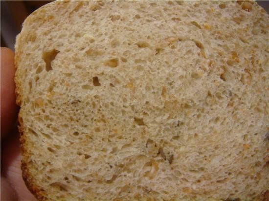 Хлеб пшеничный из муки 2 сорта с диспергированным зерном.