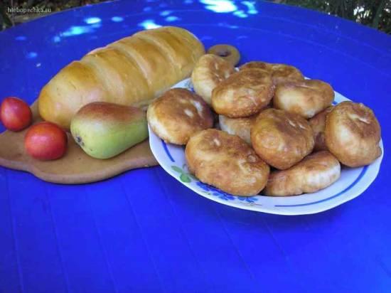 Пирожки на закваске жареные
